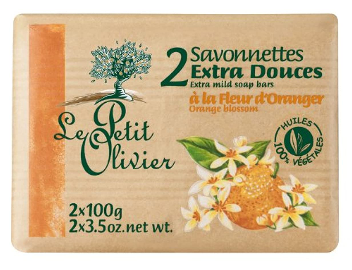 告白乳剤旅客ル プティット オリビエ エクストラマイルドソープ オレンジブロッサム 100g×2個入