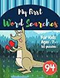 My First Word Searches: 50 Large Print Word Search Puzzles : word search for 8 year olds activity workbooks | Ages 7 8 9+ boxing kangaroo design (Vol.94) (Kids word search books)