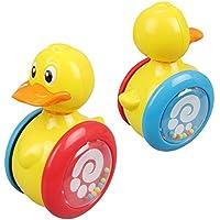 wanraneかわいい子供のおもちゃRoly - Poly赤ちゃんおもちゃCute Cartoon Little HorseスライドRattleタンブラー教育玩具(グリーン)