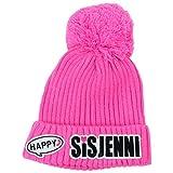 SISTER JENNI(シスタージェニィ) ワッペンニットキャップ 72492 (M(54-56cm), ピンク)