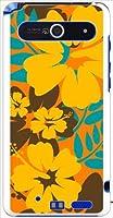 ohama ISW11F ARROWS Z アローズ ハードケース ca650-6 花柄 ハイビスカス アロハ ハワイアン スマホ ケース スマートフォン カバー カスタム ジャケット au