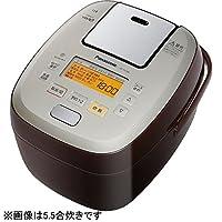 パナソニック 1升 炊飯器 圧力IH式 おどり炊き ブラウン SR-PA186-T