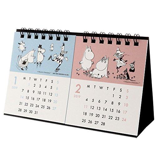サンスター文具 2019年 ムーミン カレンダー 卓上 2ヶ月 S8517444 (2019年 1月始まり)