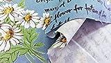 布人倶楽部 有輪商店 オックス 小関鈴子さんの英字花柄プリント 108cm幅x1mカットクロス