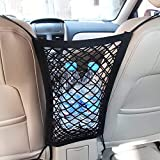 MICTUNING Universal Car Seat Storage Mesh/Organizer - Mesh Cargo Net Hook Pouch Holder for Bag Luggage Pets Children Kids Dis
