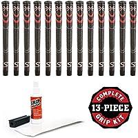 SuperStroke Cross快適ブラック/レッドジャンボ – 13 Pieceゴルフグリップキット( withテープ、溶剤、バイスクランプ)