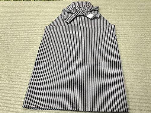 七五三 男の子袴セット 袴セット 男児袴セット 3歳~5歳用 黒色/グレーストライプ 縞袴 七点セット
