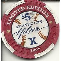 $ 5 Atlantic City Hilton 3000ヒットClub Show 1997カジノチップAtlantic City Obsolete