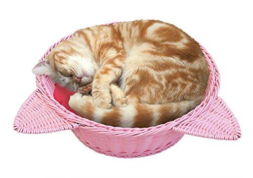 マルカン ニャン太の猫鍋 ラタン調ベッド