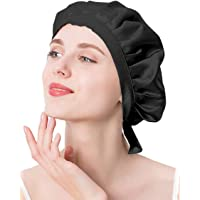 ナイトキャップ シルク シルクキャップ シルク100% 紐付き サイズ調整可能 ロングヘア ショートヘア 対応 ヘアキャ…
