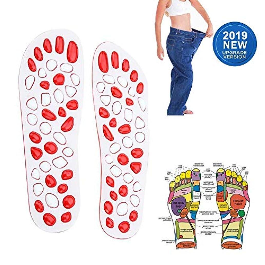 デモンストレーション機械的に気楽なマッサージインソール在宅医療男性と女性の足のツボ足のマッサージ多機能,39Yards