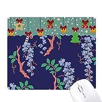 紫の日本文化の葉 ゲーム用スライドゴムのマウスパッドクリスマス