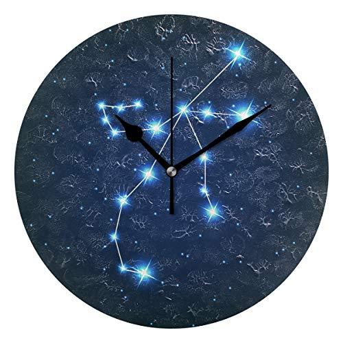 ユキオ(UKIO) 掛け時計 置き時計 壁掛け時計 室内 部屋装飾 壁時計 インテリア おしゃれ 北欧 ペルセウス座 夜空 ギフト 時計 アート 部屋 ウォールクロック 円型 かわいい