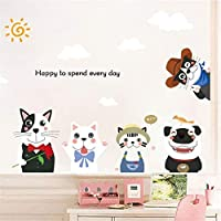 Wall Sticker - Franterd Lovely Animal Dog - Removable Wall Decal for Baby Rome Family Home Sticker Mural Art Home Decor [並行輸入品]