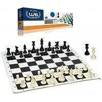 おもちゃ Best Value Tournament Chess Set - Filled Chess Pieces and Black Roll-Up Vinyl Chess Board [並行輸入品]