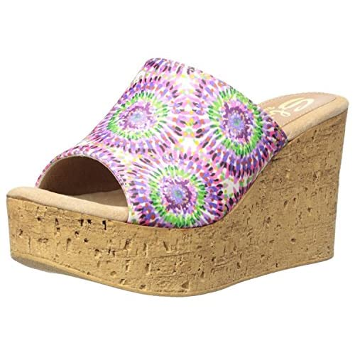 Sbicca Women's Starboard Wedge Sandal Purple/Multi 7 B US [並行輸入品]