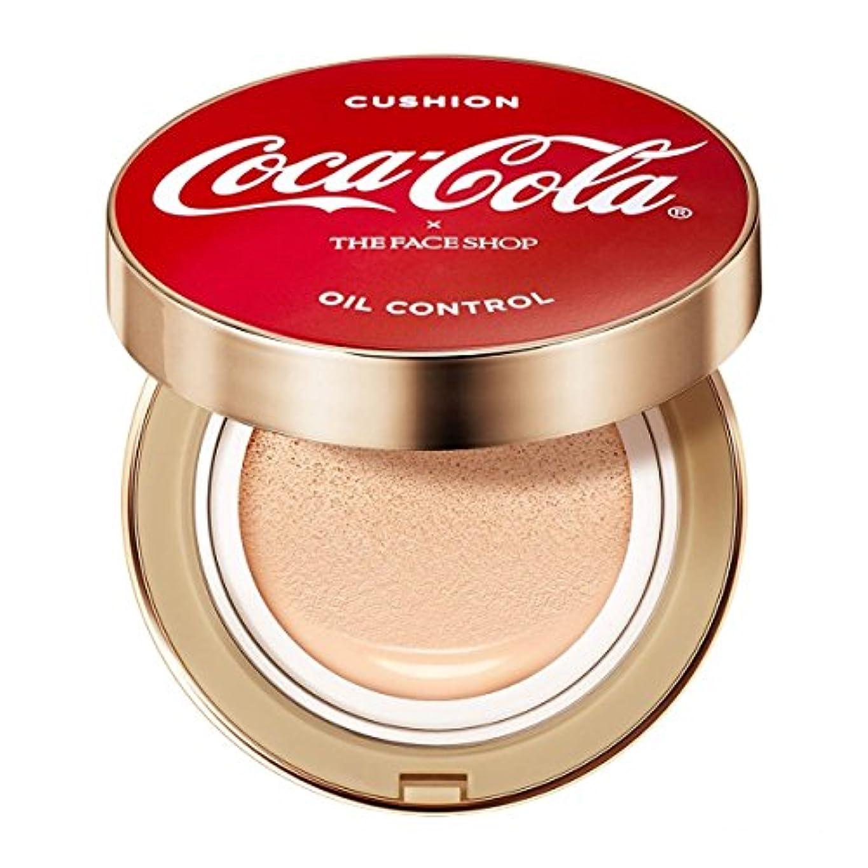 調整可能高架細胞コカ?コーラ×THE FACE SHOP コットンフィット ウォータークッション ~ コカ?コーラ公式グッズ V201 Apricot Beige