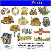 マシン刺繍デザイン–Fall ( 1)