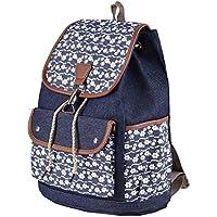 Qyoubi Womens Canvas Fashion Backpacks Purse Casual Outdoor Shopping Daypacks School Girls Travel Multipurpose Bag