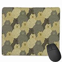 かわいいクマ マウスパッド ゲーミング ゲームオフィス 高級感 おしゃれ 防水 耐久性が良い 滑り止めゴム底 適用 マウスの精密度を上がる