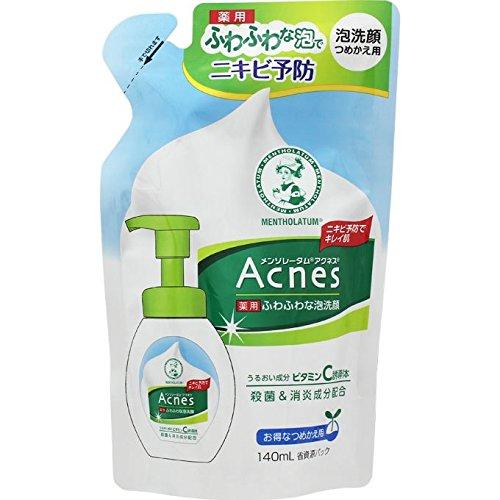 アクネス 薬用ふわふわな泡洗顔 つめかえ用 140mL【医薬部外品】