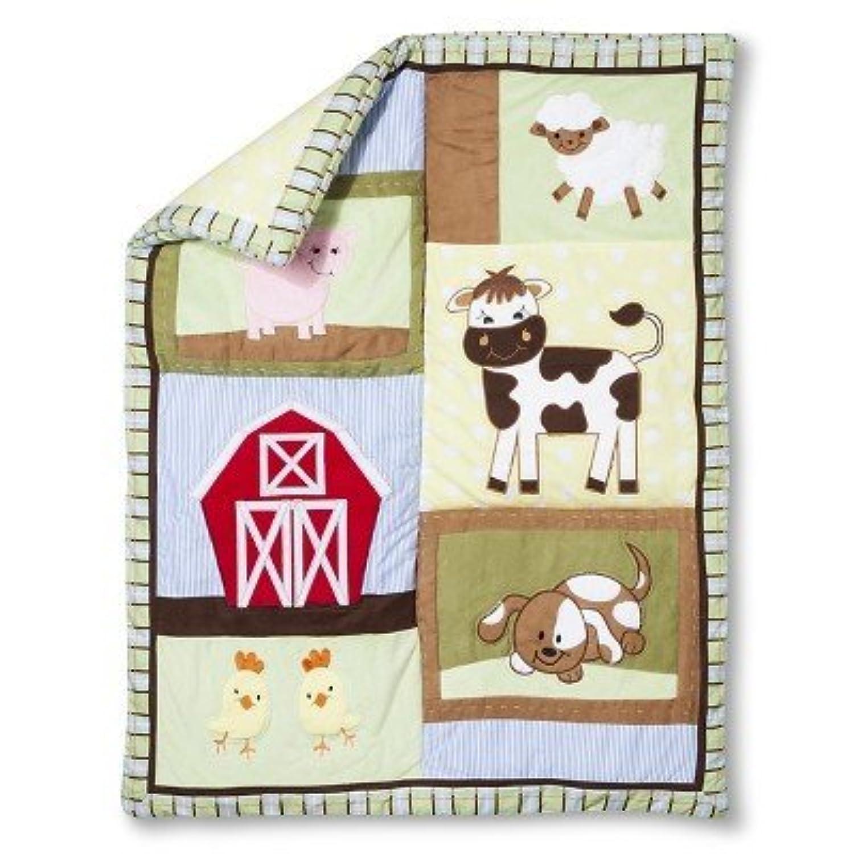 Trend Lab Baby Barnyard 3Pc Crib Bedding Set - Sage by Trend Lab