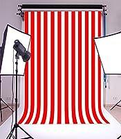 laeacco 6x 8ftビニール写真背景ストライプレッドandホワイトStripes BackdropパーティーArtistic子供大人写真バックドロップ1.8( W ) x2.5( H ) M Photo Studio Prop