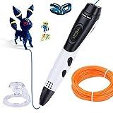 3Dプリンターペン Longruner 3Dペン LCD HDディスプレイ付き PLA/ABS出力 立体印刷ペン 7m PLAフィラメント付き スピード調整機能・温度調整機能付き 立体の絵を描く 子供へのギフト 新年プレゼント 新型 L06A