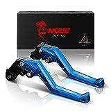 MZS 標準調整ブレーキクラッチレバー 用 ヤマハ MT-07 FZ-07 FZ1 FZ6 フェザー FZ6R FZ8 フェザー8 FZ-09 MT-09 XJ6 ディバージョン XSR700 XSR900 XV 950 ネイビーブルー