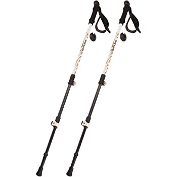 IREGRO トレッキングポール 3段伸縮式 登山杖 高強度カーボン製 炭素繊維 190g超軽量  登山 ウォーキング トレッキングステッキ トレッキングキャップ/バスケット付き