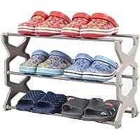 靴ラックは、ステンレススチールキャビネットの家具を格納する靴オーガナイザー棚(グレー)56 * 20 * 34センチメートル