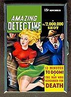 Amazing Detective GreatパルプステンレススチールIDまたはCigarettesケース( Kingサイズまたは100mm )
