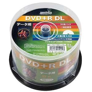 磁気研究所 データ用DVD+R DL 8倍速 50枚 スピンドル HDD+R85HP50
