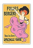 フォーリー・ベルジェール - パリ、フランス - 毎晩様々なショー - によって作成された リオネト・カピエロ c.1900 - アートポスター - 33cm x 48cm
