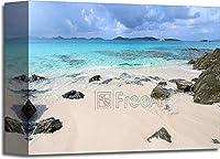 barewalls ハネムーンビーチ - セントジョン(USVI) ギャラリーラップ キャンバスアート 8in. x 10in.