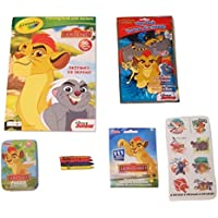Disney The Lion GuardアクティビティGiftセット~ Destined to defend ( Crayolaカラーリングブックwithステッカー、Grab and Go Playパック、ステッカーパック、Tattoos、パズルin a Tin、クレヨン; 6 Items、1バンドル)