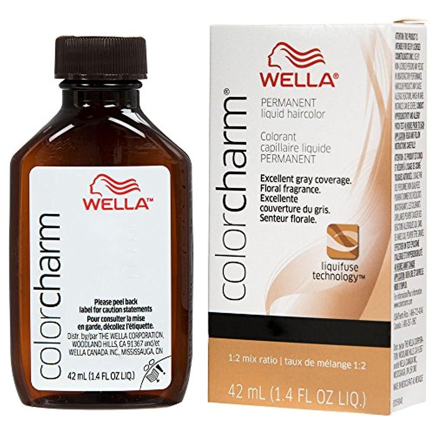 葉トレイとまり木Wella - Colorcharm - Permanent Liquid - Medium Blonde 7N /711-1.4 OZ / 42 mL