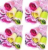 (ルノン)Lunon 結婚式 プチギフト バラ 花束 タオル 紙袋 ギフト包装 付き 30本 15本 披露宴 飾り ハンカチ 結婚 パーティー 二次会 ..