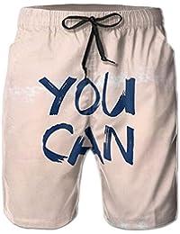 メンズ ビーチショーツ ショートパンツ You Can 水着 スイムショーツ サーフトランクス インナーメッシュ付き 通気 速乾