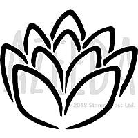 a4 lotus flower 壁ステンシル テンプレート ws00030507 stamp