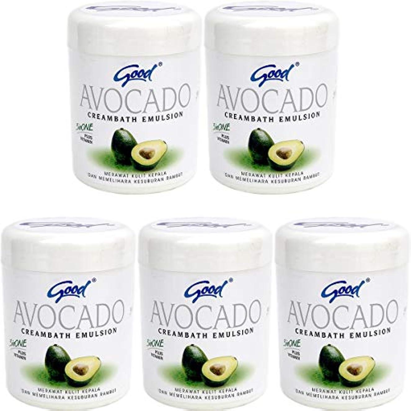 絶滅した毎週アイザックgood グッド インドネシアバリ島の伝統的なヘッドスパクリーム Creambath Emulsion クリームバス エマルション 680g × 5個 Avocado アボガド [海外直送品]