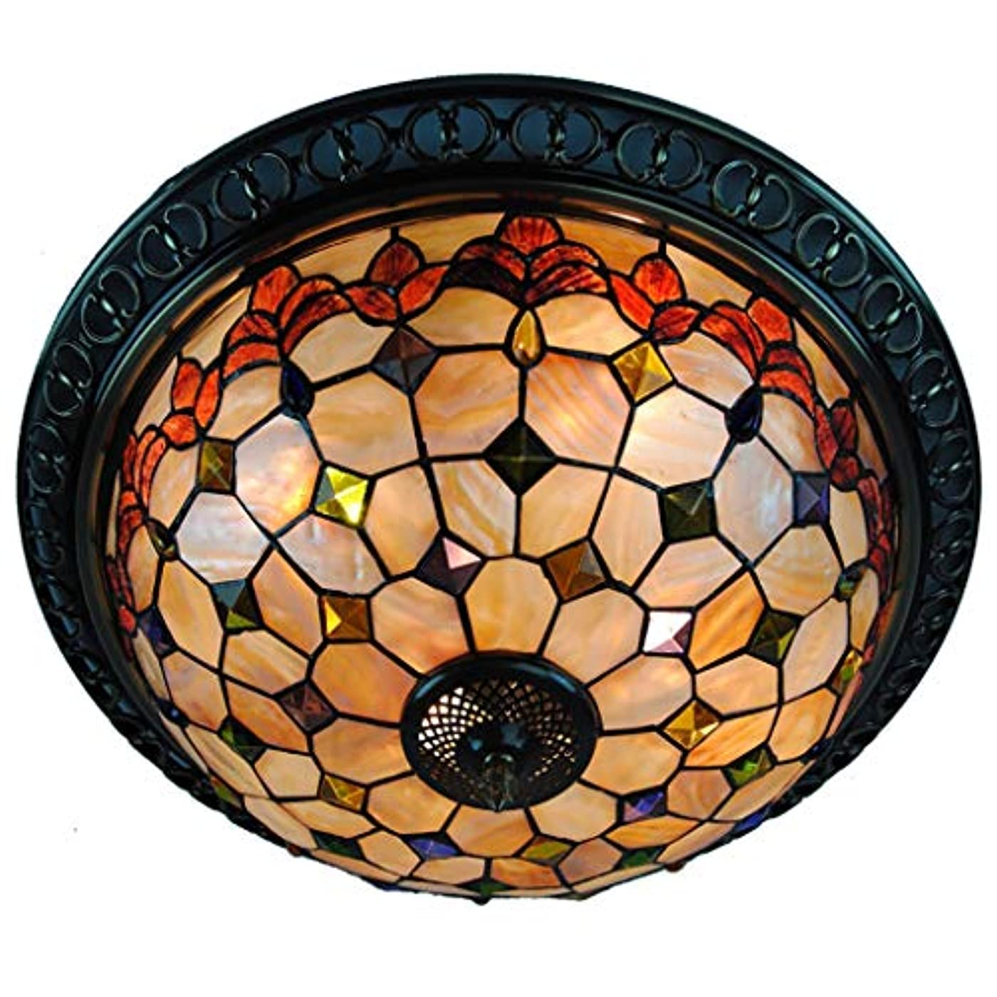 デザイナードキュメンタリー記憶雷子ランプ ティファニーヨーロッパのシェルサイドフラワー天井のランプリビングルームベッドルームのバーの装飾16インチ