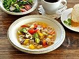 【M'home style】 和食器 渕錆粉引スープ皿21.3cm