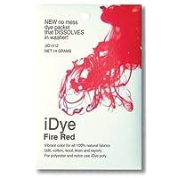 Fire Red For 14gm天然生地ファブリックdye-idye (ジャカード) byジャカード