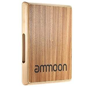ammoon カホン トラベルカホン ドラム 31.5 * 24.5 * 4.5cm ゼブラ木 パーカッション・打楽器 (1)