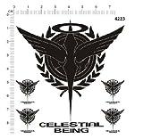 celestial being ロゴ ソレスタルビーイング メタルデカール 「並行輸入品」