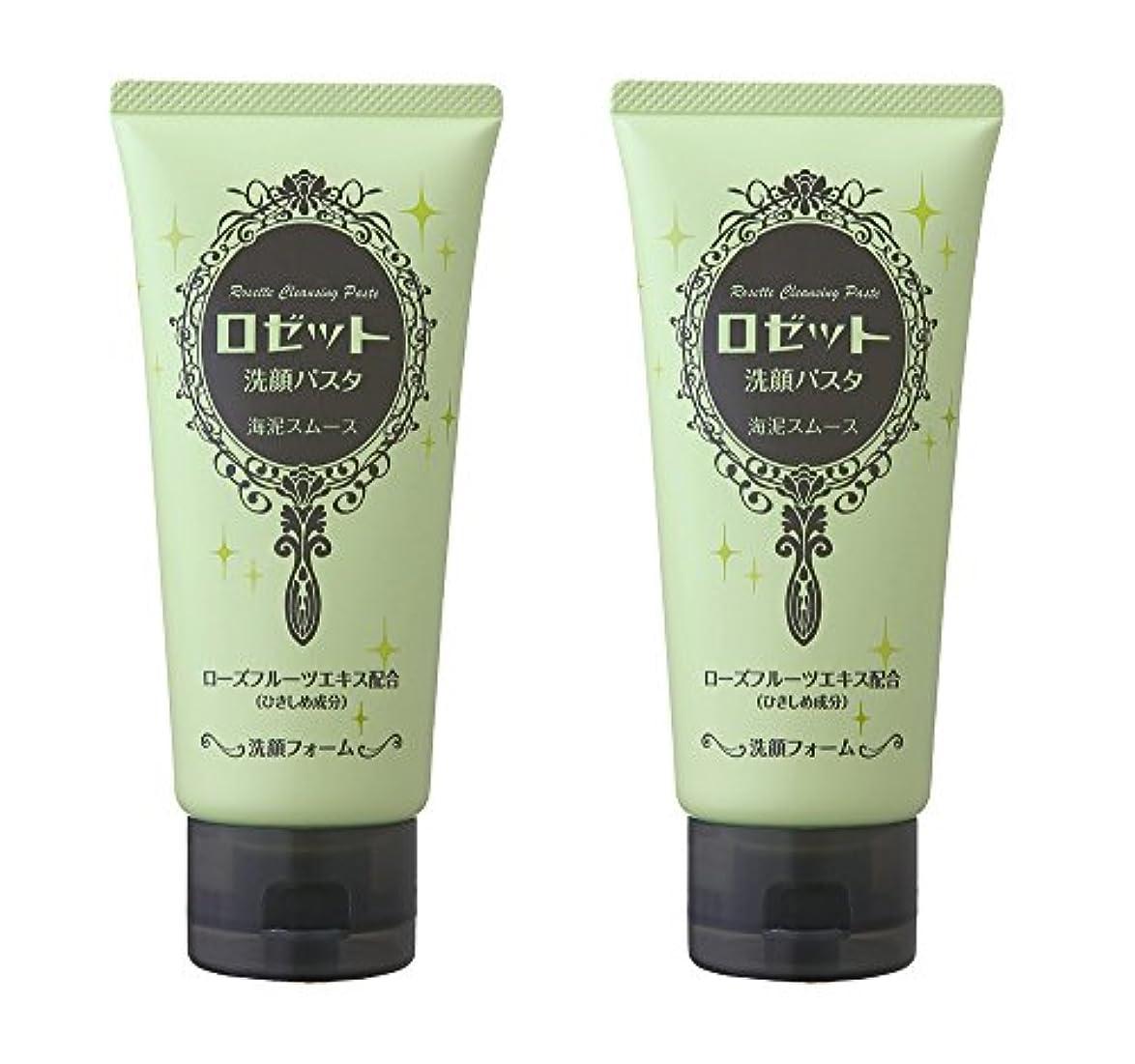 薬を飲むペレット強化するロゼット洗顔パスタ 海泥スムース 2個パック (120g×2個)