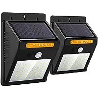 センサーライト 人感ライト ソーラーライト 30LED 屋外照明 両面テープ付 自動点灯 玄関 駐車場 防水 防犯 2個