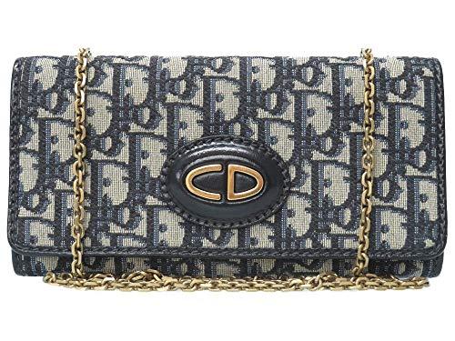 (クリスチャンディオール) Christian Dior トロッター ウォレットチェーン 長財布 キャンバス レディース 0097 中古