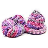 サクララ(Sakulala)カラフル 手編み毛糸 秋冬毛糸 超超極太 250g 帽子 マフラー